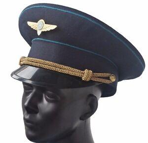 Chargement de l image USSR-Cap-Russia-Military-Air-Force-Officer-Hat- 077eb90c892