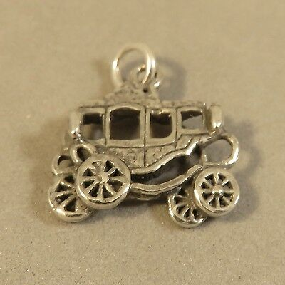 NEW Silver Plated Wagon Cart Carriage Charm Beads Fits Most European Bracelets