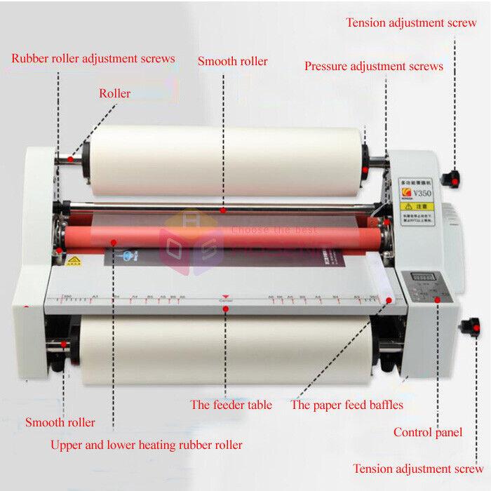 Digital Control 17''Hot Cold Roll Laminator Single/&Dual Sided Laminating Machine