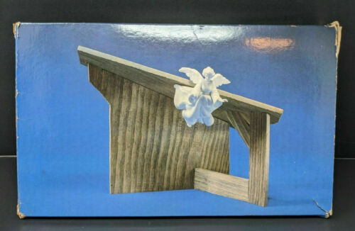 Avon Nativity Collectibles THE STABLE for Porcelain Figurines Creche NO ANGEL