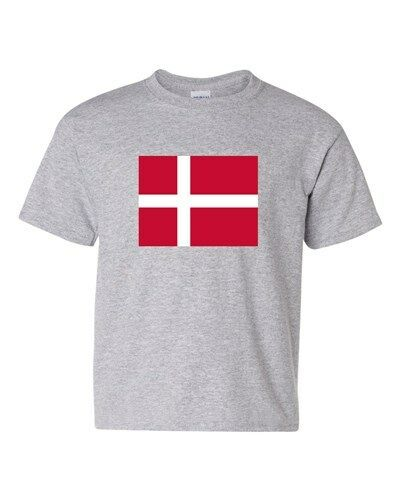 Denmark Country Flag Europe Danish Nation Patriotic DT Youth Kids T-Shirt Tee