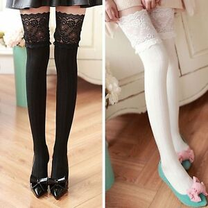 197ce95ee Warm Knee-high Socks Non-slip Stockings Over Knee Stockings High ...