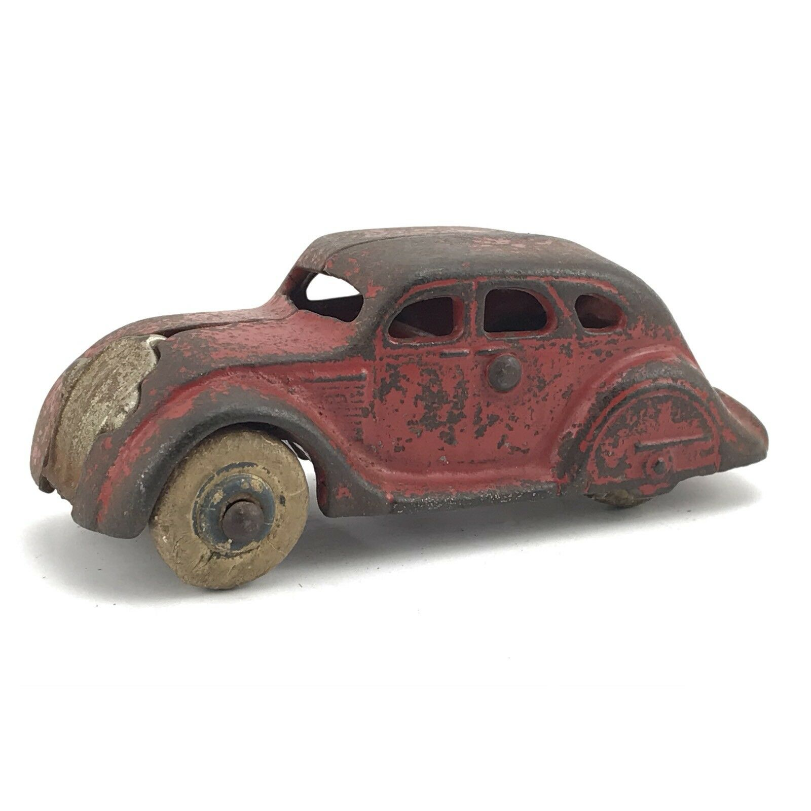 Vintage Arcade Cast Iron No 146 Toy Car With Rubber Tires