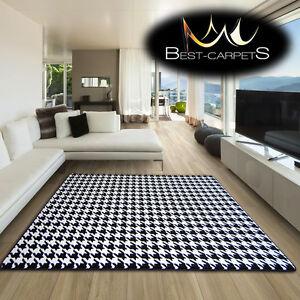 100% De Qualité Amazing épais Moderne Tapis Sketch Blanc Noir F763 Grande Taille Best-tapis-afficher Le Titre D'origine