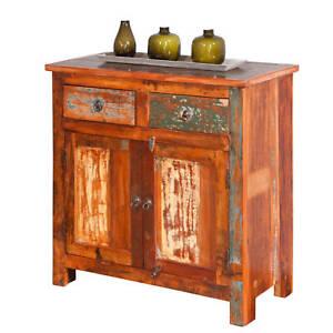 Commode bahut buffet console à tiroirs meuble de salon salle a ...