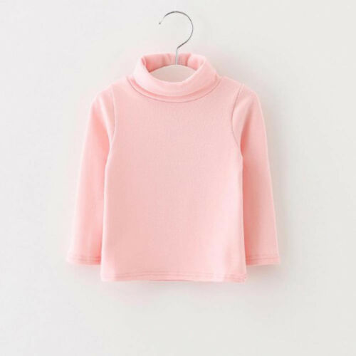 Toddler Kids Baby Girl Long Sleeve High Winter Warm Tops T-Shirt Blouse Pullover