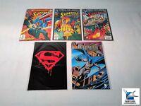 Mixed Lot of Superman DC Comic Books Memorial, Funeral for a Friend,Batman Lot 5