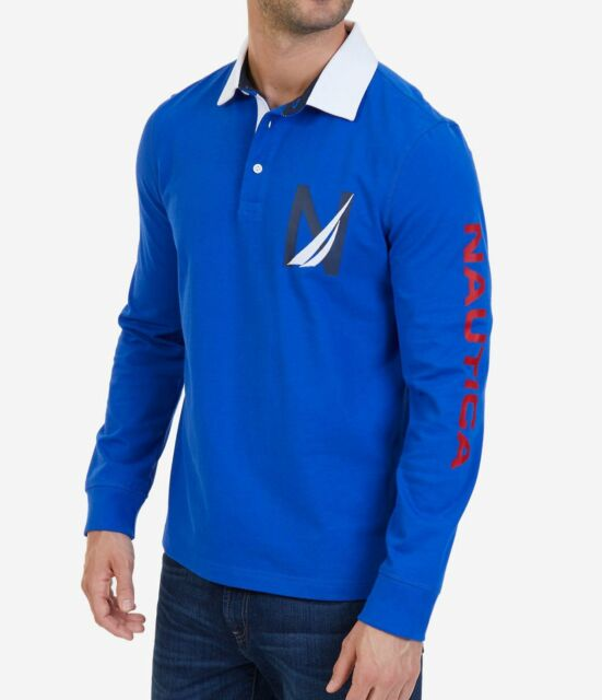 2a1c7a6b Buy Nautica Men's Heritage Logo Long Sleeve Polo Shirt Medium online ...