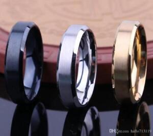 Timeless-Stainless-Steel-8mm-Men-039-s-Wedding-Type-Bands-Canadian-Seller