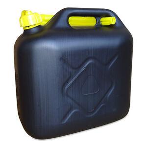 6 x 20 Liter Dieselkanister Benzinkanister UN-Zulassung schwarz inkl Ausgießer