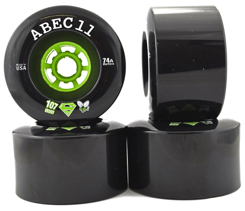 ABEC11 Superflys 107mm 74a zwart Longboard Downhill Electrical Board WHakken