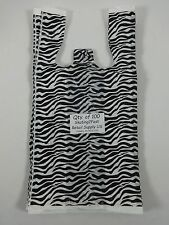 100 Zebra Print Design Plastic T Shirt Retail Shopping Bags Handles 8 X 5 X16