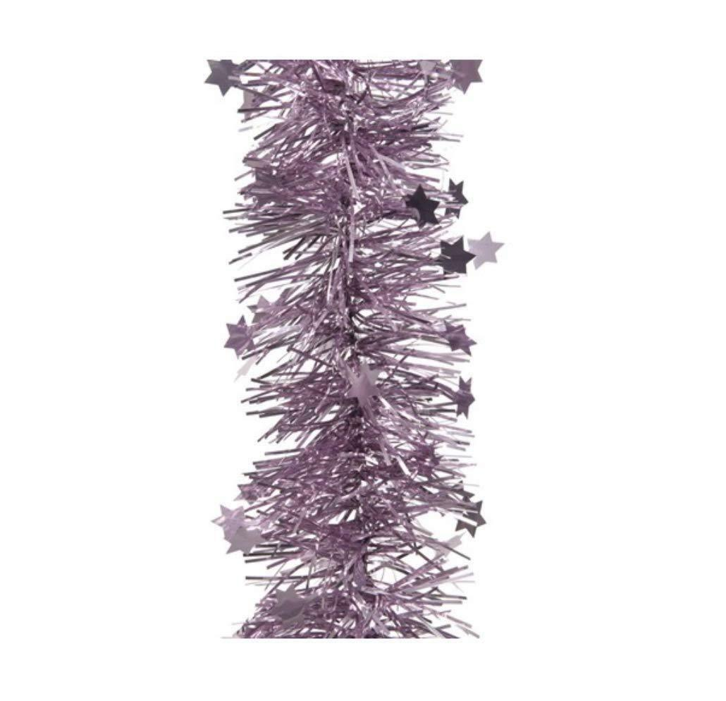 Albero Di Lillà dettagli su filo con stelle ghirlanda per albero di natale viola lilla cm  10 x 270