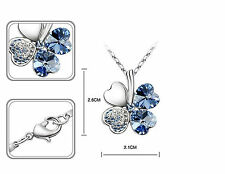 Four Leaf Clover crystal Pendant Necklace & earring fashion party wedding  gifts