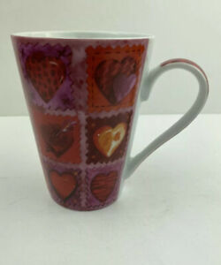 Konitz-Red-Purple-Pink-Red-And-Gold-Heart-Mug-Love-Valentines-Sweetheart-Germany