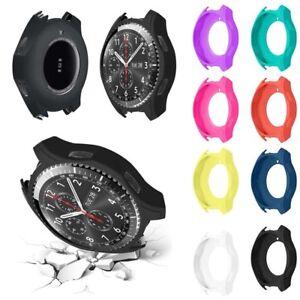 Luxus-Silikon-Buegel-Uhrenarmband-Kasten-Abdeckung-fuer-Samsung-Gear-S3-Frontier