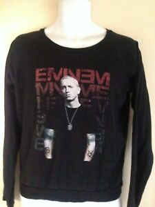 EMINEM-RECOVERY-2014-LADIES-FITTED-LONG-SLEEVE-LARGE-T-SHIRT-RAP-HIP-HOP