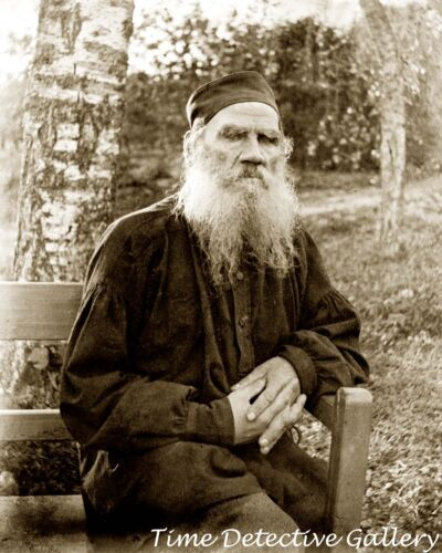 War /& Peace Author Leo Tolstoy 1897 Historic Photo Print