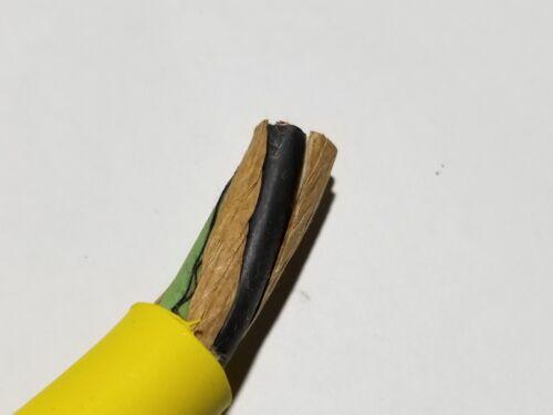 Carol 02425 12//3C Carolprene SOOW 600V 90C Portable Power Cable Cord Yellow//25ft