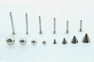 6mm-16mm-14g-16g-3mm-6mm-Cone-Ball-Labret-Bar-Cheek-Piercing-Lip-Helix-Earring