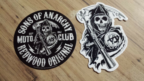 Sons Of Anarchy Samcro Redwood Original & Reaper Stickers S.O.A. FX Channel