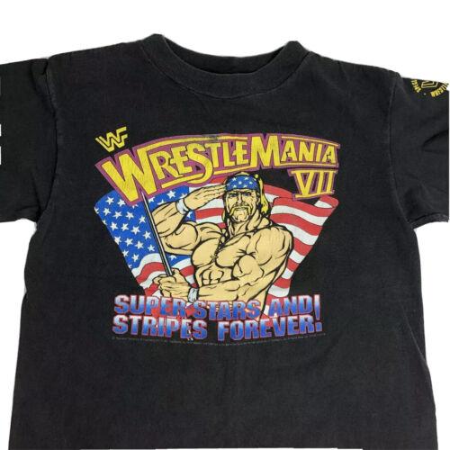 Vintage 1991 Wrestlemania VII  T Shirt Hulk Hogan