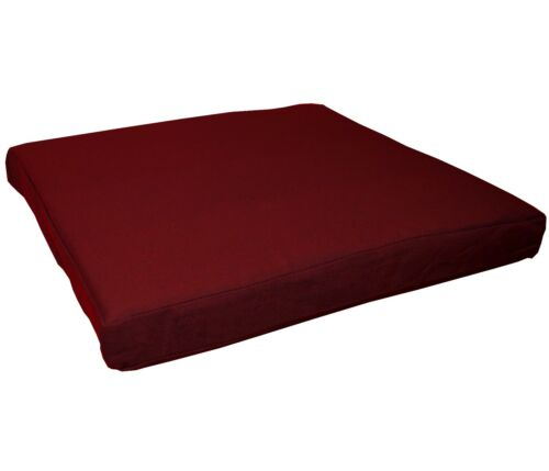 aa148t Sherry Red Cotton Canvas 3D Box Sofa Seat Cushion Cover*Custom Size*