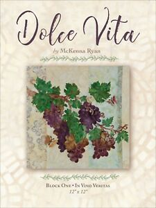 outlet store 9aac6 725a0 Details about Dolce Vita by McKenna Ryan Laser Cut Block 1 In Vino Veritas  Grapes Kit 12