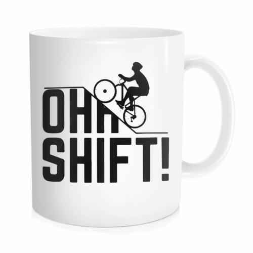 Gift With Bicycle Bike Lover  Mug Oh Shift Cycling Coffee Mug