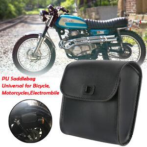 Noir-sacoche-sac-cuir-moto-custom-caisse-outils-Bag-pour-Harley-Divadson-choper