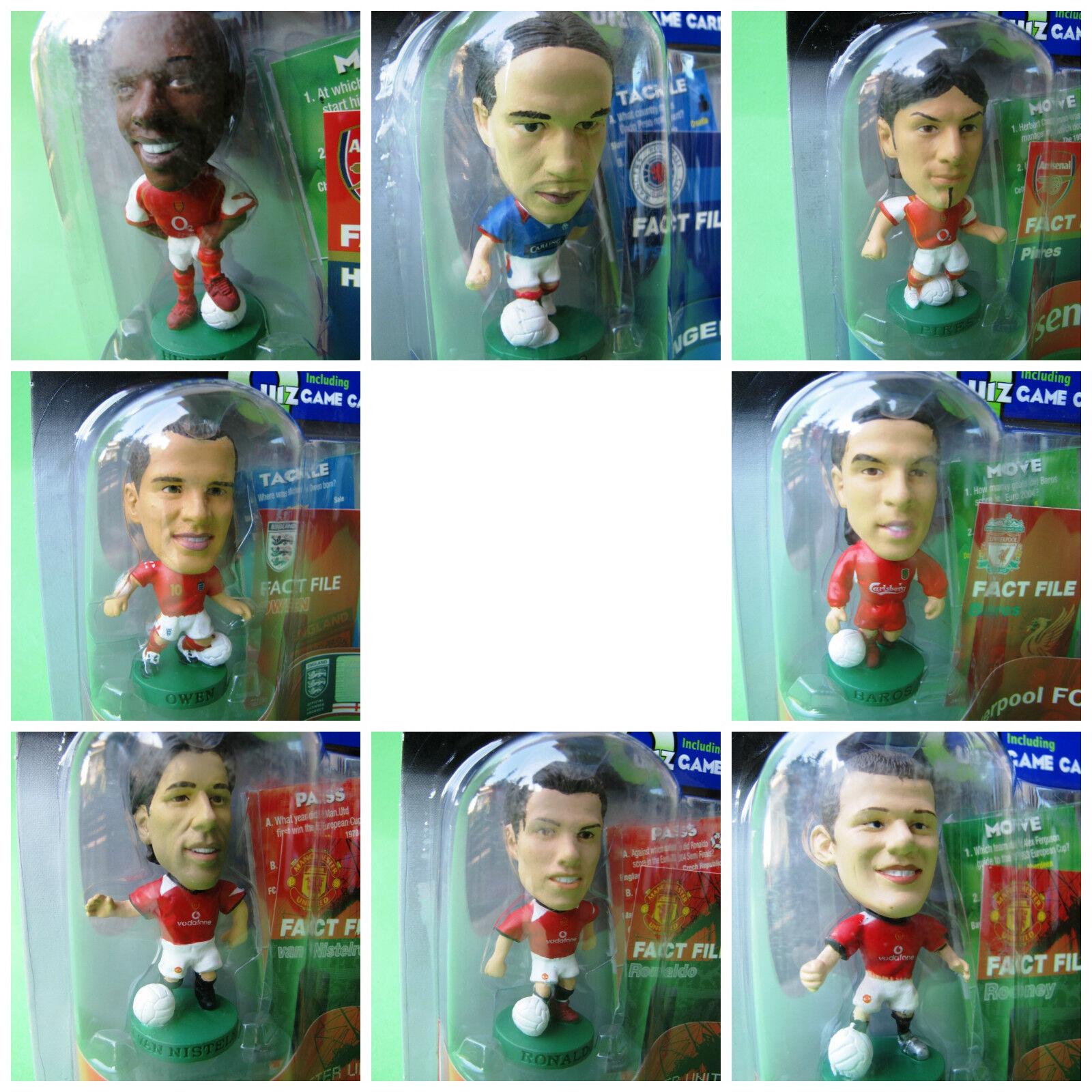 Lot of 7 ProStars Prso Henry Baros Rooney Pires Owen Ronaldo Nistelrooy Football