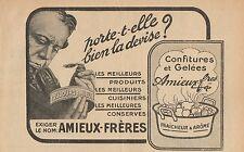 Y7331 Confitures et Gelées Amieux-Frères - Pubblicità d'epoca - 1919 Old advert