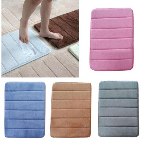 Super Absorbent Bathroom Water Household Non-slip Soft Microfiber Bath MatS New