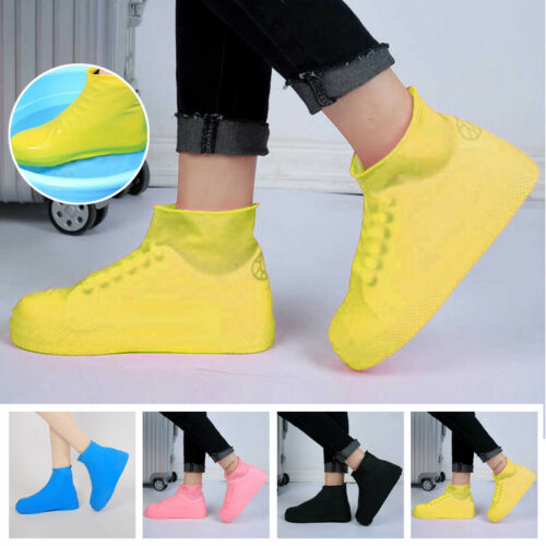 Rain Waterproof Shoe Covers Boots Protective Recyclable Silicone Overshoes Case