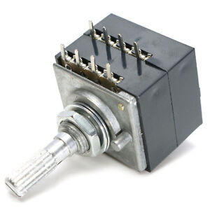Potentiometer-250K-Log-ALPS-Audio-Amp-Volume-Control-Pot-Stereo-W-Loudness-M