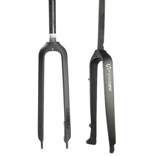 "1-1//8/"" Carbon Fiber Disc Brake Rigid MTB Mountain Bike Fork Expander/&Top cap 26"