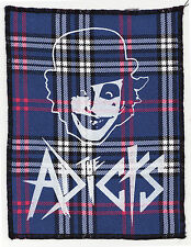 ADICTS BLUE TARTAN PATCH ORIGINAL 1977 ENGLISH PUNK BAND LARGE OVERLOCKED DROOGS