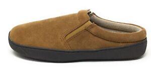 HideAways Mens Alex Slip-On Mule Slipper Shoes Hashbrown Suede Size 10 M US