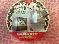 ❤softlips 2pc Lip Balm Hello Kitty Cube Set Limited Edition Holiday ❤
