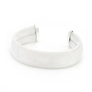 Ladies-3-Inch-Wide-Wire-Mesh-Cuff-Bracelet