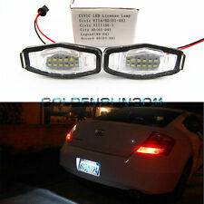 2pcs Direct Fit LED License Plate Lamps Lights For Honda Civic Acura TL TSX,etc