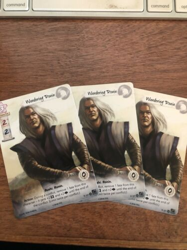 L5R PROMO WANDERING RONIN FULL ART X 3 LEGEND OF THE FIVE RINGS LCG