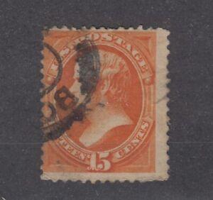 USA-1870-15c-Orange-Webster-Sc-152-Fine-Used-JK1012