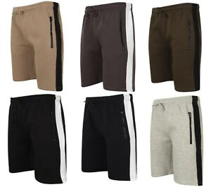 Mens-Shorts-Cotton-Sweat-Jersey-Gym-Muscle-Zip-Elasticated-Jogging-Running-New