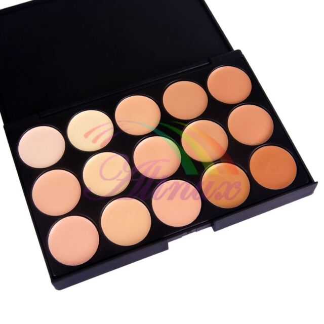 Pro.15 Colors Makeup Neutral Concealer Camouflage Cream Cosmetic Palette Set Kit