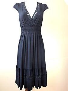 Ghost-Sakura-Coco-Indigo-Navy-Blue-Dress-Size-XS-M-Label-Price-120-UK-Seller