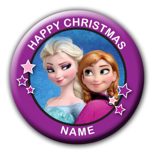 Personalised frozen noël stocking filler cadeau badge//aimant//miroir de noël