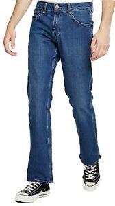 Wrangler-Mens-Jacksville-Regular-Bootcut-Stretch-Jeans-Boot-Leg-Denim-Blue-Heat