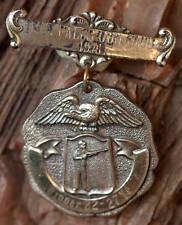 VINTAGE STERLING SILVER TWIN FALLS IDAHO GUN CLUB 1971 WINNER 2 PIECE MEDAL/PIN