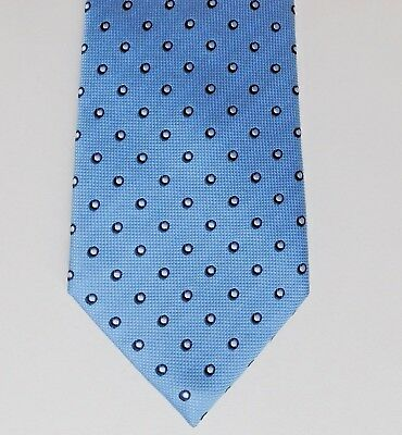 Polka dot tie blue silk by John Lewis classic mens wear spotty pattern